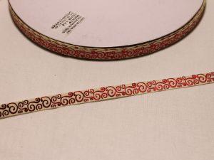 Лента репсовая с рисунком, ширина 9 мм, длина 10 м, Арт. ЛР5528-4