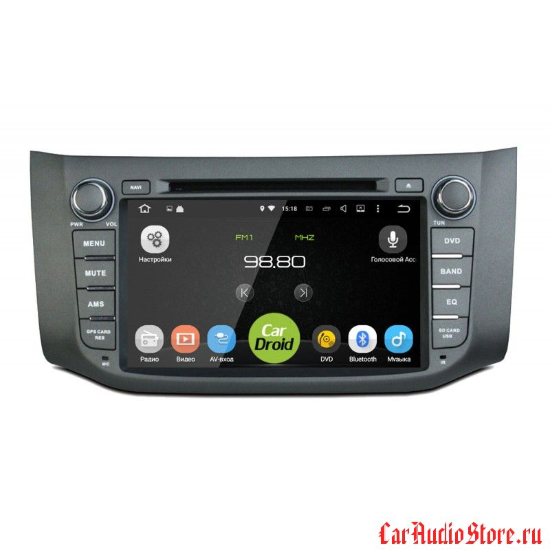 Roximo CarDroid RD-1204 для Nissan Tiida 2015, Sentra 2014 (Android 8.0) 4GB