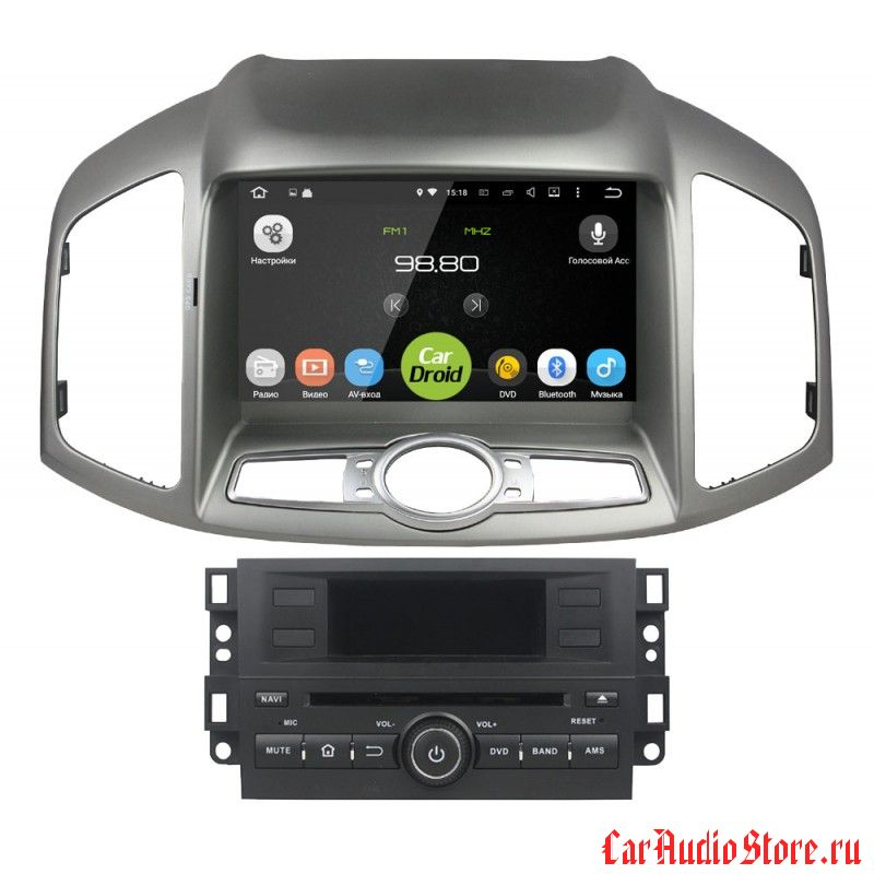 Roximo CarDroid RD-1303 для Chevrolet Captiva (Android 8.0) 4Gb