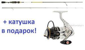 Спиннинг Aiko Tirrel II TIR II 221ULT 2.21м / тест 2 - 8 г + катушка Cormoran Pearl Master 2000  в подарок!
