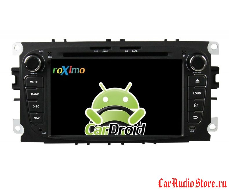Roximo CarDroid RD-1702B для Ford Focus 2, Mondeo (Android 8) Black