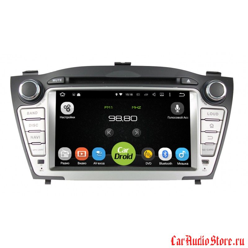 Roximo CarDroid RD-2002 для Hyundai ix35, 2009-2015 (Android 8.0) 4Gb