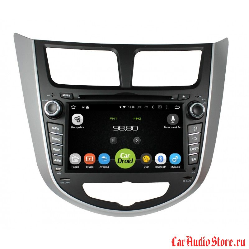 Roximo CarDroid RD-2003 для Hyundai Solaris (Android 8.0) 2GB