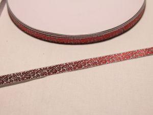 `Лента репсовая с рисунком, ширина 9 мм, Арт. Р-ЛР5528-2