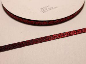 `Лента репсовая с рисунком, ширина 9 мм, Арт. Р-ЛР5528-3