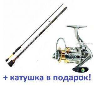 Спиннинг Aiko Izabella III IZ3-722ULS 2,18м/ тест 1-7гр+ катушка Cormoran Bull Fighter 5aiF 1500  в подарок!