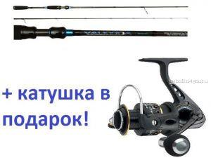 Спиннинг AIKO Valkyrja 802ML 244 см 6-18 гр+ катушка Cormoran Black Master 3000  в подарок!