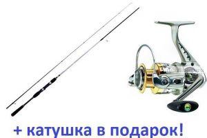 Спиннинг AIKO Espada ESP248MH 8-48 гр + Катушка Cormoran Bull Fighter-5AiF 3000 в подарок!