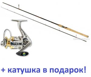 Спиннинг Aiko Diestro II 270 MH ( 16-38 гр)+ Катушка Cormoran Bull Fighter-5AiF 4000 в подарок!