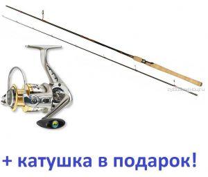 Спиннинг Aiko Diestro II 270 M 270 см / тест 12 - 28 гр + Катушка Cormoran Bull Fighter-5AiF 4000 в подарок!