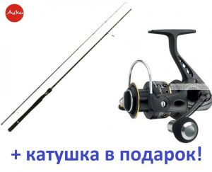 Спиннинг Aiko Shooter 802 M ( 244 см 8-26 гр)+ катушка Cormoran Black Master 3000  в подарок!