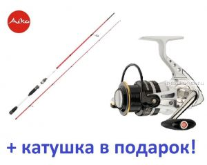 Спиннинг Aiko Ressens 235L 235 см 3-16 гр+ катушка Cormoran Pearl Master 2500  в подарок!