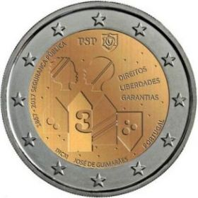 150 лет полиции общественной безопасности 2 евро Португалия 2017