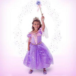 Рапунцель ДеЛюкс костюм с аксессуарами светящийся Дисней костюм 7/8 лет (128см)