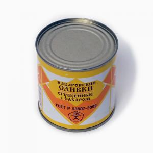 Назаровские сливки 19% ГОСТ ж/б 345г