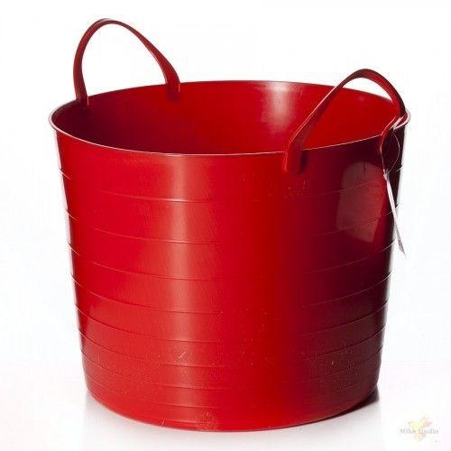 АК PROLANG Гибкое ведро с ручками, красное, 12л