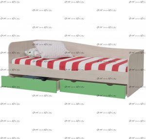 Кровать с ящиками Индиго И-16 МДФ (80х190)
