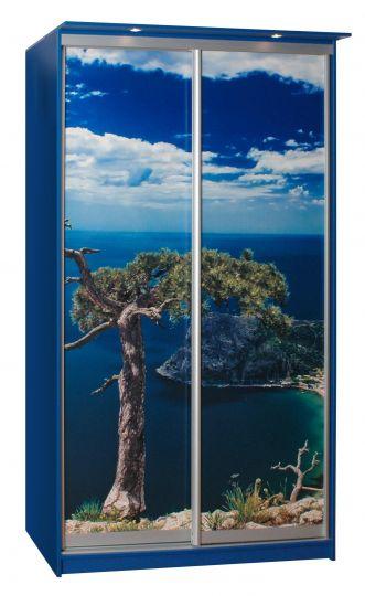 Шкаф-купе Амати-АЭРО двухдверный (рисунок У моря)