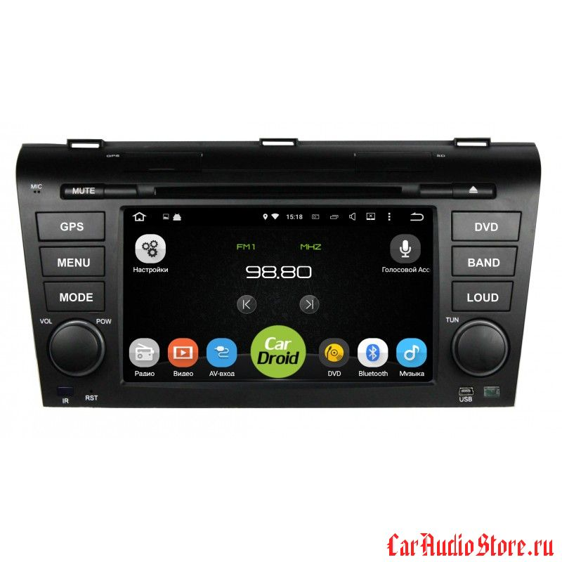 Roximo CarDroid RD-2403 для Mazda 3, 2004-2009 (Android 8) 4GB