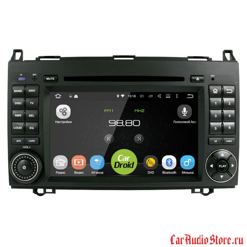Roximo CarDroid RD-2503 для Mercedes Benz W169 W245 Vito Viano (Android 8.0) 4GB