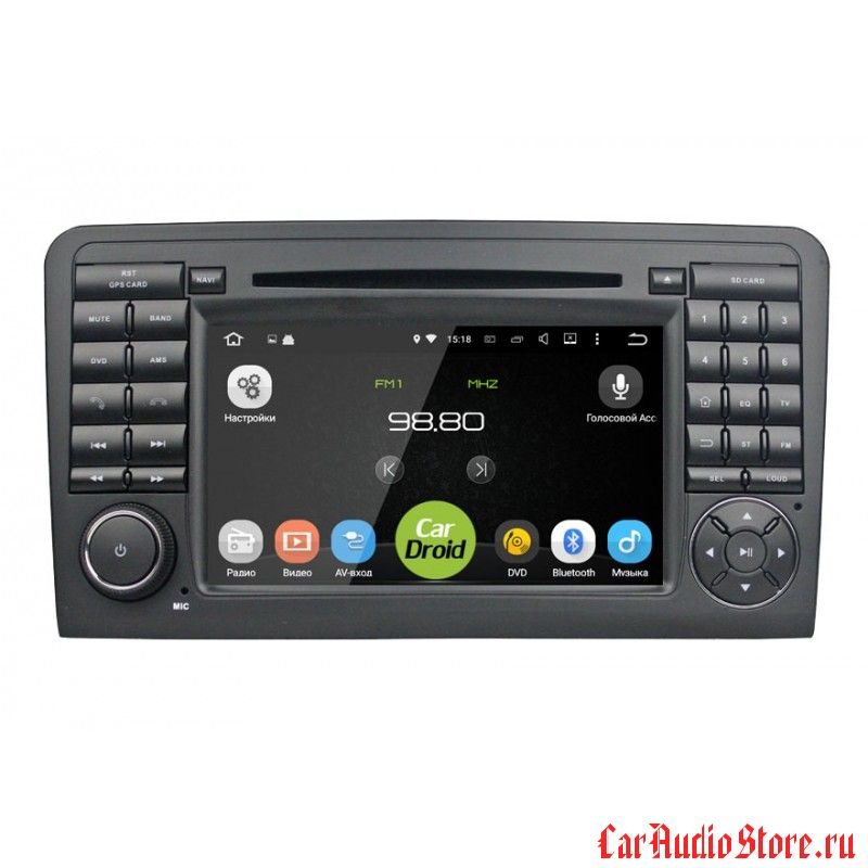 Roximo CarDroid RD-2504 для Mercedes Benz ML W164 GL X164 (Android 8.0) 4GB