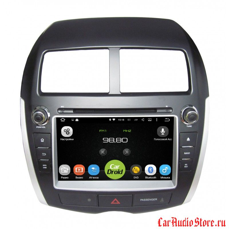 Roximo CarDroid RD-2604 для Mitsubishi ASX, Peugeot 4008, Citroen Aircross (Android 8.0) 4GB