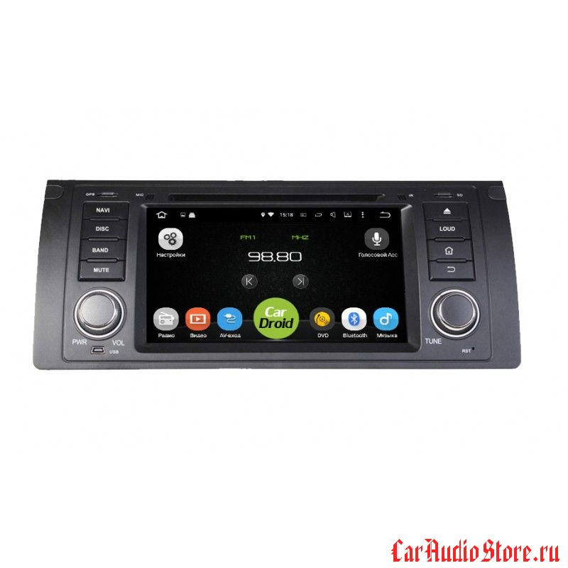 Roximo CarDroid RD-2701 для BMW E39 E53 M5 X5 1996-2007 (Android 8)