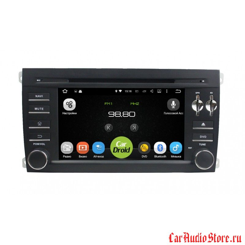 Roximo CarDroid RD-2921 для Porsche Cayenne 957 2002-2010 (Android 8.0) 4Gb