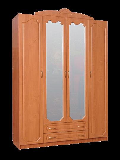 Шкаф Гармония-Рельеф четырехстворчатый с зеркалом