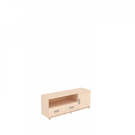 Тумба с  ящиком и дверцей  УК-103.05  1350х400х525 мм (ШхГхВ)
