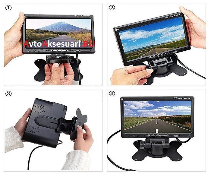 Камеры заднего вида 1 шт с монитором 7 дюймов для грузовиков и автобусов PZ470/1