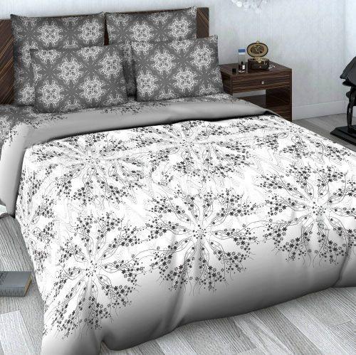 """Сатиновое постельное белье """"Лирика"""" рис.602."""