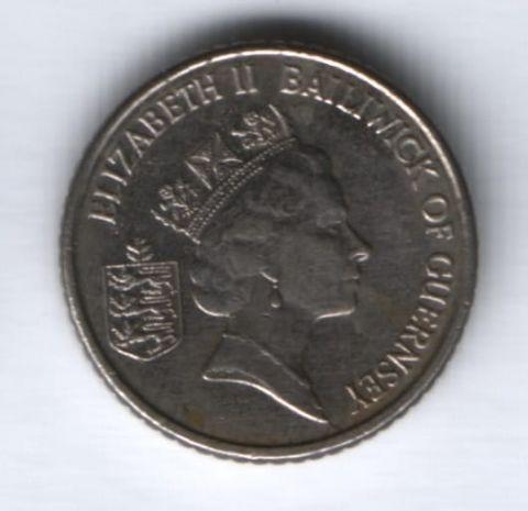 5 пенсов 1990 г. Гернси