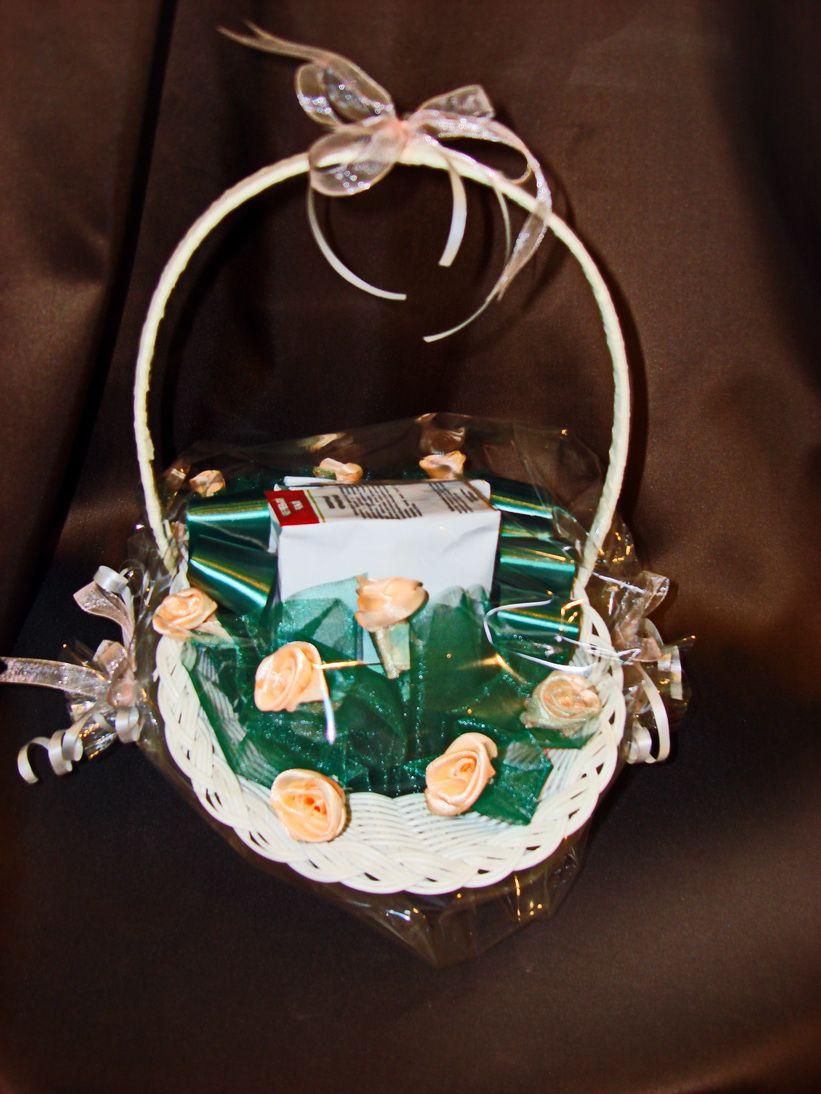 """Корзинка с чаем  """"Цветы"""" - подарочный набор."""