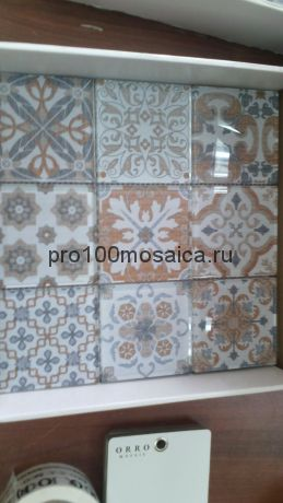 COIN BEIGE. Мозаика 98х98 мм, серия GLASS, размер, мм: 300*300*8 мм (ORRO Mosaic)
