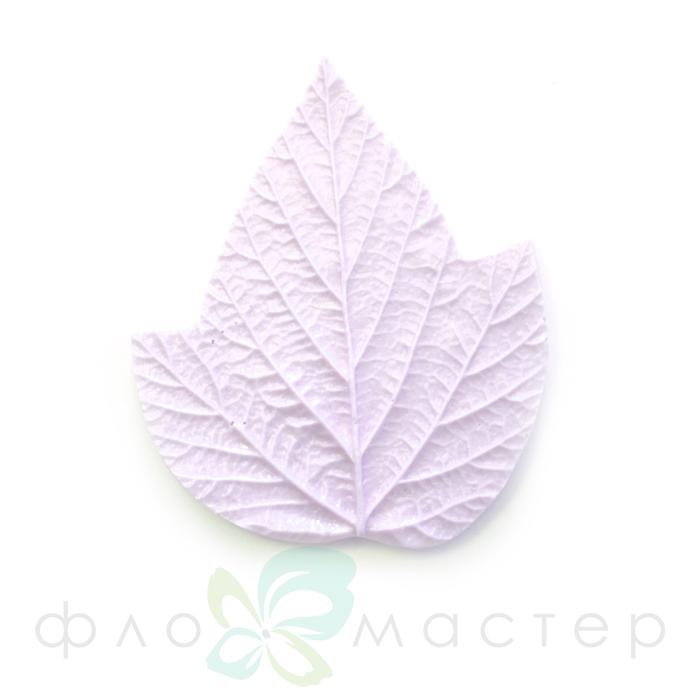 Молд лист малины тройной маленький