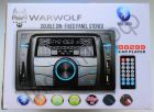 Автомагнитола WARWOLF B-8299 двухдиновая, Bluetooth, 2 usb, SD, FM, пульт.