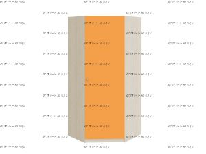 Шкаф угловой Астра (90х90х200)