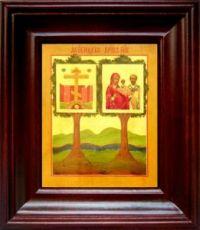 Оковецкая икона БМ (21х24), простой киот