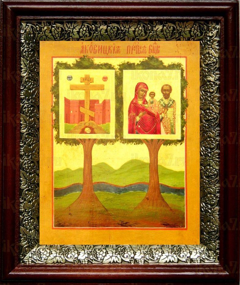 Оковецкая икона БМ (19х22), темный киот