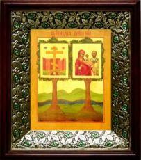 Оковецкая икона БМ (21х24), киот со стразами