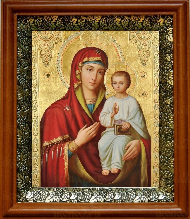 Оршанская икона БМ (19х22), светлый киот