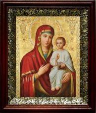Оршанская икона БМ (19х22), темный киот