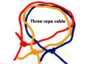 Three rope cable Три сцепленные верёвки