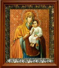 Песчанская икона БМ (19х22), светлый киот