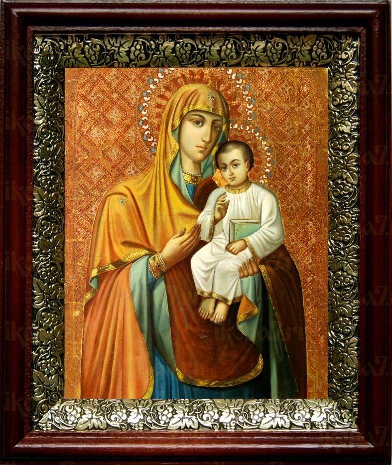 Песчанская икона БМ (19х22), темный киот