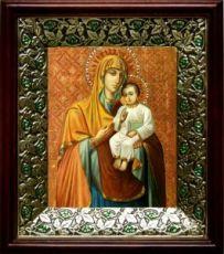 Песчанская икона БМ (21х24), киот со стразами