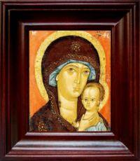 Петровская икона БМ (21х24), простой киот