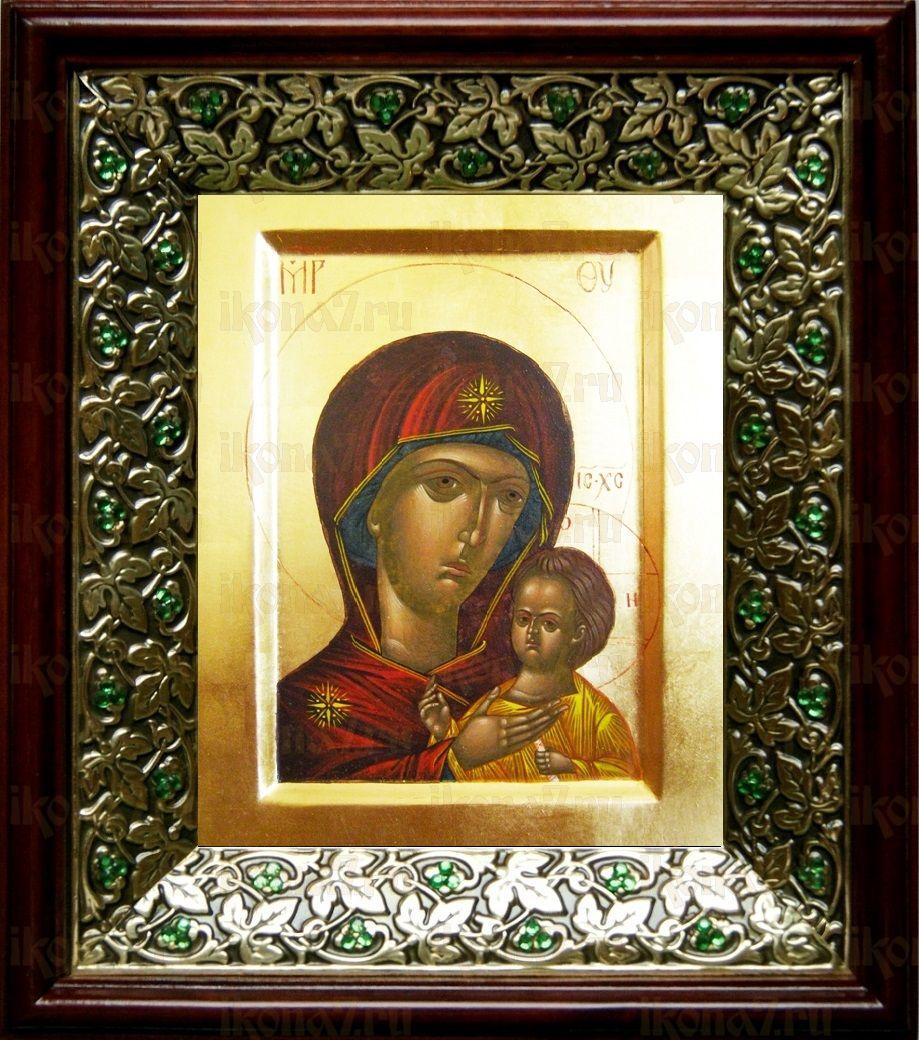 Петровская икона БМ (21х24), киот со стразами