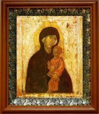 Пименовская икона БМ (19х22), светлый киот